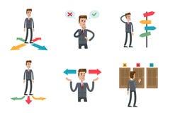 Choisissant des directions réglées Illustration Stock