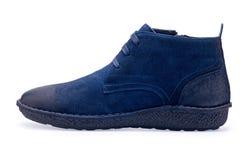Choisissez des chaussures bleues de sports avec la dentelle Images libres de droits