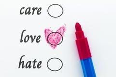 Choisissez l'amour image libre de droits