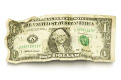 Choisissez le billet d'un dollar chiffonné photographie stock