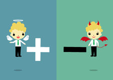 Choisissez le positif ou le négatif illustration de vecteur