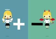 Choisissez version2 positif ou négatif illustration libre de droits