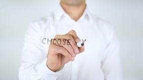 Choisissez votre avenir, écriture d'homme sur le verre clips vidéos