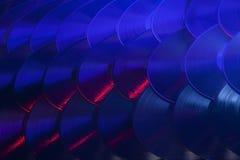 Choix coloré de disques vinyle Image libre de droits
