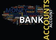 Choix de concept de nuage de Word de comptes bancaires Photo libre de droits