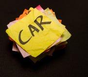 Choix de durée - argent de dépense sur des véhicules Photographie stock libre de droits