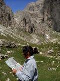 Choix de l'itinéraire de montagne Images stock