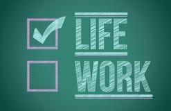Choix de la vie et de travail illustration de vecteur