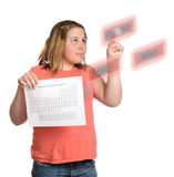 Choix des matières d'enseignement Image stock