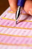 Choix des numéros de loterie Image libre de droits