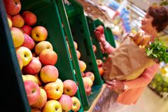 Choix des pommes Images libres de droits