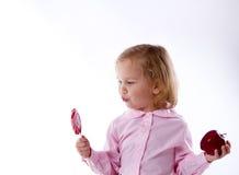 Choix nourriture saine, bonbons Image libre de droits