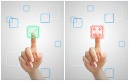 Choix virtuels Photo libre de droits