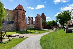 Free Chojnice, Pomorskie / Poland - May, 29, 2019: A View Of The Old City Walls In A Small Town In Pomerania, Poland. An Old And Newly Royalty Free Stock Photography - 149113107