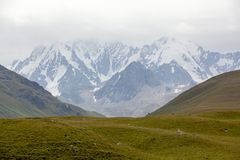 Chok-tal mountain. Tien Shan, Kyrgyzstan Royalty Free Stock Photo