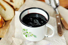 Chokeberry jam Stock Images