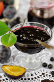 Chokeberry Plum Jam Royalty Free Stock Photo