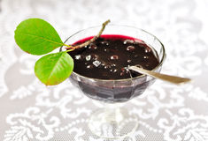 Chokeberry Plum Jam Royalty Free Stock Photos