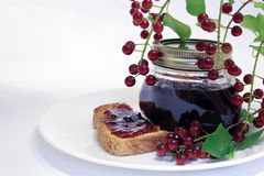 Chokecherry-Stau und Toast Stockfotografie