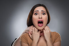 Choking. Royalty Free Stock Photography
