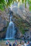 Chokkradin瀑布在北碧 免版税库存照片