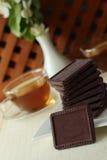 Chokladдессерт till te Royaltyfri Bild