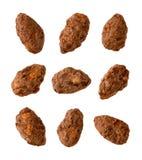 Choklad - bestrukna mandlar Royaltyfria Bilder