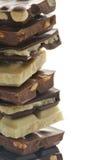 Choklad blockerar ramen Royaltyfria Foton