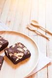 Choklad Brownie Cake Arkivbild