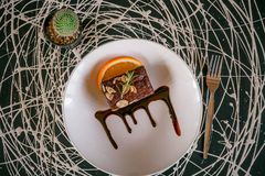 Choklad Brownie Candy arkivbild