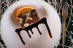 Choklad Brownie Candy arkivfoto