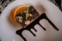 Choklad Brownie Candy arkivbilder