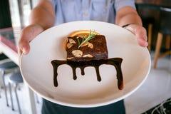 Choklad Brownie Candy royaltyfri bild