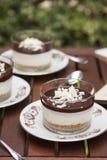 Choklad Cheescake Arkivfoton