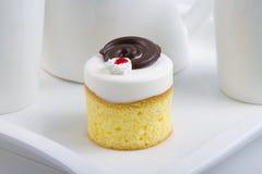 Choklad Cherry Cake Arkivbild