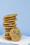 Choklad Chip Cookie Stack Fotografering för Bildbyråer