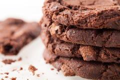 Choklad Chip Cookies Fotografering för Bildbyråer
