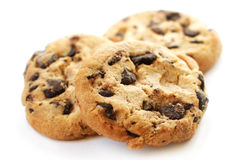 Choklad Chip Cookies Closeup Arkivbilder