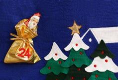 choklad claus santa Royaltyfria Bilder