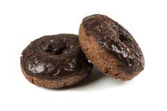 Choklad glaserade kakadonuts Royaltyfria Foton