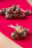 Choklad klumpa ihop sig arkivbild