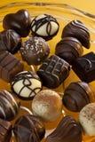 Choklad - lyxiga kakor - konfekt Royaltyfri Bild