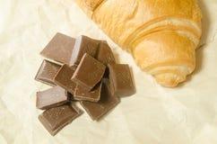 Choklad med en giffel Royaltyfria Foton