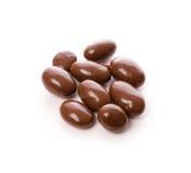 Choklad med mandelar Arkivbild