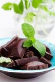 Choklad med minten Royaltyfri Foto