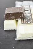 choklad mjölkar white arkivfoto