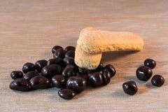 Choklad och bisquits Royaltyfria Bilder