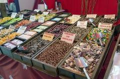 Choklad- och gelébönor Arkivbilder