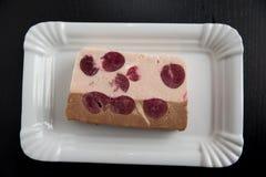 Choklad- och körsbärparfait Fotografering för Bildbyråer
