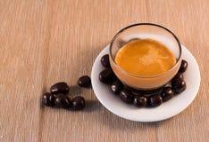 Choklad och kaffe Arkivfoton